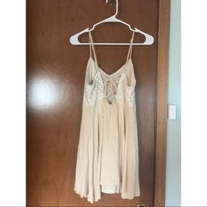 Flying Tomato Dresses - Cream dress with lace.